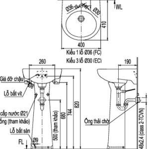 Chậu rửa Inax L-282V/L-284VD