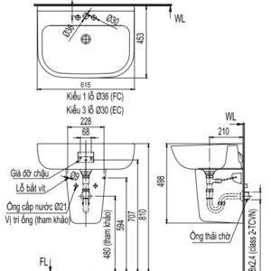 Chậu rửa Inax L-298V/L-298VC