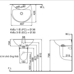 Chậu rửa Inax L-285V/L-288VC