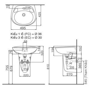 Chậu rửa Inax L-284V/L-284VC