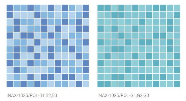 Gạch hồ bơi INAX-1025/POL-B1,B2,B3