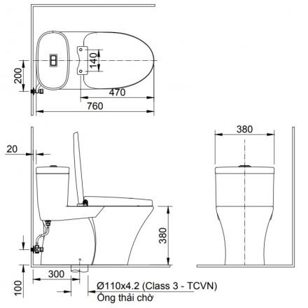 Bàn Cầu INAX AC-959VAN