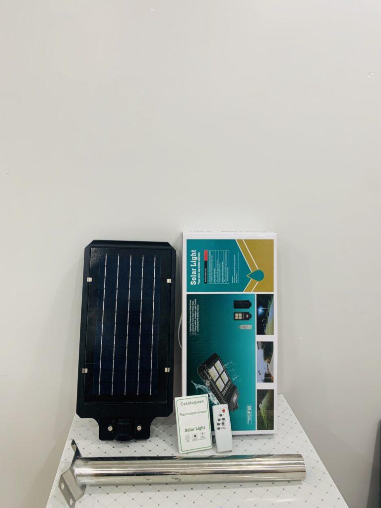 Giới thiệu sản phẩm đèn cảm biến năng lượng mặt trời JD-9960A 60w