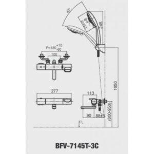 sen tắm nhiệt độ INAX BFV-7145T-3C