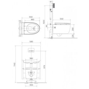 Bồn Cầu treo tường INAX AC-952VN