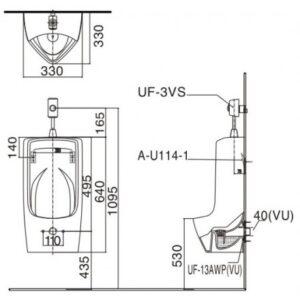 Bồn tiểu nam INAX AU-431VR