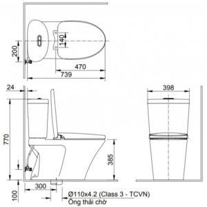 Bàn Cầu INAX AC-700VAN