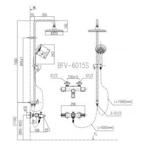 Vòi Sen Tắm Cây Inax BFV-6015S nhiệt độ